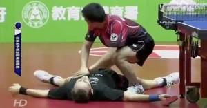 Chuang Chih-Yuan et Jean-Michel Saive font le show